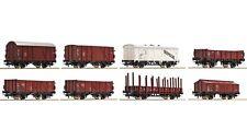 ROCO 44002 - 8-teiliges Set Güterwagen, DB Spur H0 NEU DC