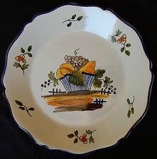 """B83) Assiette """"moderne"""" décor de fruits (voir signature)"""