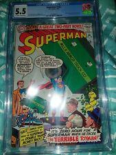 Superman 182 CGC 5.5 1966