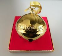 Wallace 1990 Gold Plate Silverplate Sleigh Bell Christmas Ornament - 55901