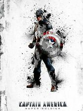 MARVEL - CAPTAIN AMERICA ABSTRACT POSTER PRINT - MATTE - BUY 2 GET 1 FREE