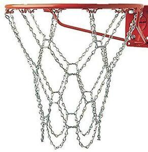 Chain Basketball Net Heavy Duty Galvanized Steel Goal Strong Hoops Outside