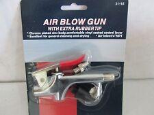 Air blow gun with rubber tip