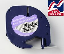 1 x tape cartridge 12267 clear plastic 12mmx4m for DYMO LETRATAG label makers