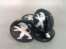 PEUGEOT Cache Moyeux Centres de Roue Silicone Emblem 4p x 60mm/55mm  *NEUF*