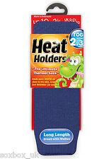 Childrens Thermal Heat Holder Socks size 9-1 Uk, 27-33 Eur,9.5-2 us , Deep Blue