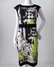 FRANK LYMAN $329.95 Size 10 CAN/US 8 UK 12 Print Sheath Dress Made in Australia