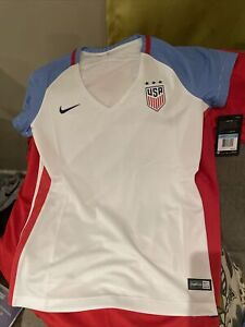 NIKE USWNT Soccer USA White Dri-Fit Shirt Women's Home Jersey Size Medium