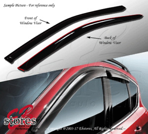 Vent Shade Window Visors Fiat 500 11 12 13-16 2011-2016 Pop Lounge Sport 2pcs