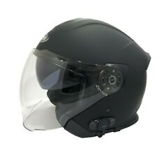Viper RS V10 Bluetooth Casco de Moto Scooter Negro Mate Cara Abierta