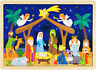 O Holy Night Nativity Scene 24-Piece Wooden Christmas Jigsaw Puzzle with Inset