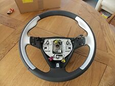 "Saab 9-3 ""Aero"" 3 Chrome - Leather Steering Wheel ""Brand New Genuine"" 12783362"