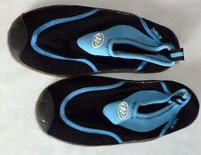 "Water beach shoes slipon neoprene size 6 9"" length Rinic blue black mint"