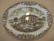 Staffordshire England Ironstone 4411 Heritage Hall Oval Serving Platter, 13 3/4""