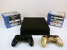 PlayStation 4 System cuh-1215a 500 GB Black Working 19 Games 2 Controllers