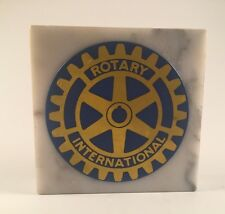 ROTARY INTERNATIONAL ITALIAN MARBLE PAPER WEIGHT MADE IN ITALY...VINTAGE