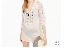 J.Crew White Embroidered Tunic, NWT, XS NEW ARRIVAL, orig$88, great buy