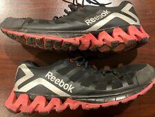Reebok Zigtech Zigkick Mens Black Red Silver Size 13 Running Shoes V45550