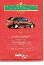 PUBLICITE ADVERTISING 126  1994  la Seat Ibiza Si  1.6i GLX
