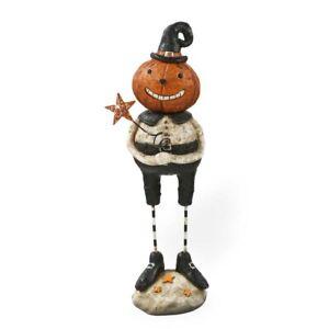 "NWT Halloween Jack-O-Lantern Pumpkin Holding Star Primitive 7.5"" Folk Art"