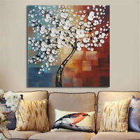 Framed Abstract Flower Tree Canvas Print Oil Painting Picture Home Art Decor
