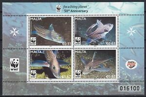 Malta 2011 WWF Fish MNH sheet