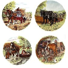 4 Shire Horse Farm Scene Select-A-Size Waterslide Ceramic Decals Bx