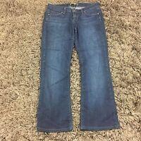 "Paige NOAH Dark Wash Boot Cut size 28 HEMMED Denim Jeans Pants 27"" Inseam"