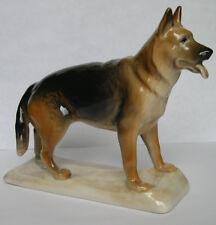 PORCELAIN Figurine DOG German Shepherd.Hand Painted