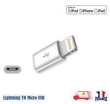 CONNECTEUR ADAPTATEUR IPHONE IPAD MICRO USB 8 7 6 5S 5C 5 convertisseur chargeur