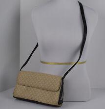 LA TOUR EIFFEL PARIS Monogram  Black Ivory Leather Shoulder bag Purse