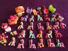 My Little Pony Lot of 21 Miniatures MLP Mini Toys Hasbro Ponyville & Accessories