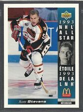 1993-94 Upper Deck McDonald's NHL All Stars - #26 - Scott Stevens - Devils