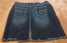 Woman's Xhilaration Denim Blue Jean Skirt Size 15 Stone Wash 5 Pockets