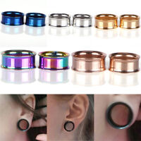 Stainless Steel Screw Ear Gauges Flesh Tunnels Plugs Stretchers Expander  RAC