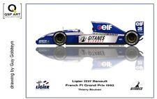 Coffee Mug 1992 Ligier JS37 Renault #25 Thierry Boutsen (BEL) by Guy Golsteyn