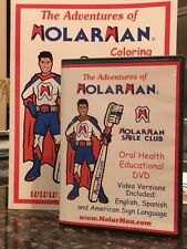 Molar Man Educational Dental Dvd/Coloring Book Combo English/Spanish/Sign