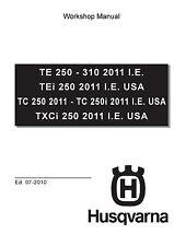 Husqvarna workshop service manual 2011 I.E. USA TXCi 250
