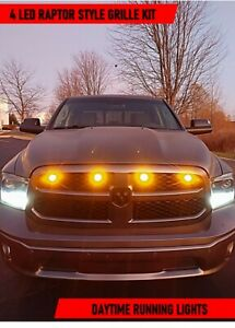 2013-2018 13 14 15 16 17 18 RAM 1500 Raptor Style LED Grill Pre-Runner Light Kit