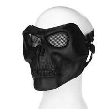 Paintball Tactical Airsoft Face Protection Safety Mask Guard Full Skull Black