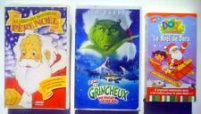 3 CASSETTES VHS DE NOEL POUR ENFANTS, DORA, LE GRINCHEUX, HISTOIRE DU PÈRE NOEL