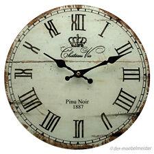 Nostalgie Wanduhr Antik Landhausstil Frankreich Küchenuhr Glas Uhr zum Aufhängen
