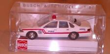 Busch Chevrolet Caprice Fire Dept. RAR 1:87 Neu OVP