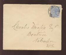 BAHAMAS QV 1895 2 1/2d SOLO FRANKING to NEBRASKA USA