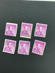 RARE US Abraham Lincoln 4 Cent Stamp 6 stamps