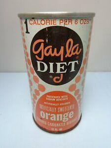 GAYLA DIET ORANGE STRAIGHT STEEL PULL TAB SODA POP CAN SKOKIE, ILLINOIS