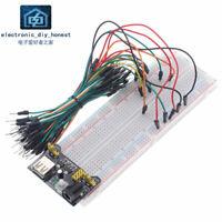 3.3V/5V MB102 Breadboard power module+MB102 830 Breadboard +65pcs jumper wires