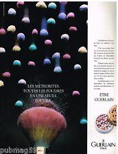 Publicité Advertising 1988 Cosmétique Maquillage Les Météorites de Guerlain