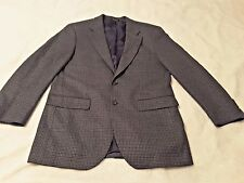 CHAPS Men's Blue Houndstooth Lambs Wool Sport Coat, Size 40R