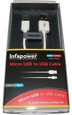 INFAPOWER 1M USB 2.0 vers micro usb chargeur téléphone portable /